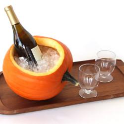 Pompoen als wijnkoeler
